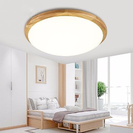 Ronda de estilo japonés moderno minimalista LED lampara de ...