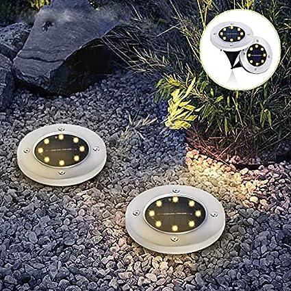 Goodia 4Stk 3W Bodeneinbaustrahler Led 230V AC IP65 270Lumen Gartenbeleuchtung lampF/ür Aussen warmwei/ß