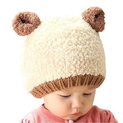 zyyaxky Sombrero De Bebé Otoño E Invierno Oso De Peluche De Los Niños Coreanos Gorra Doble