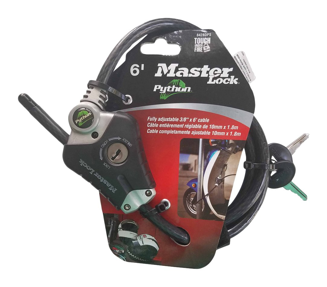 Master Lock 8428DPS Python Adjustable Locking Cable, 6-Foot