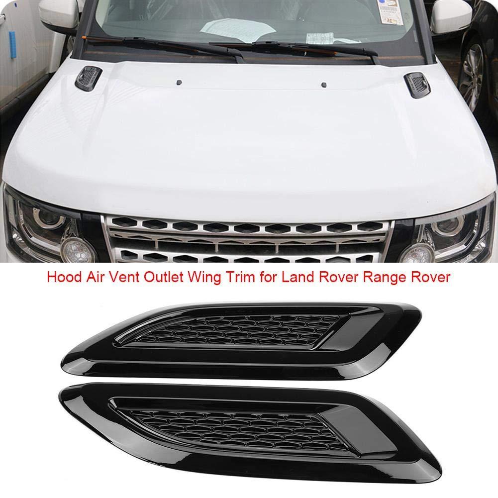 Amazon.com: Exterior Hood Air Vent Outlet Wing Trim for Land Rover Range Rover Evoque 2012-2018 2 Pcs(Black): Automotive