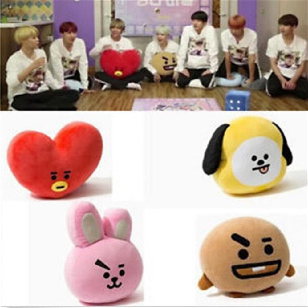 Amazon.com: Hommal EWINHUIYING KPOP Cute Cartoon BTS BT21 Plush Doll Toy Bangtan Boys Throw Pillow Cushion 17.7