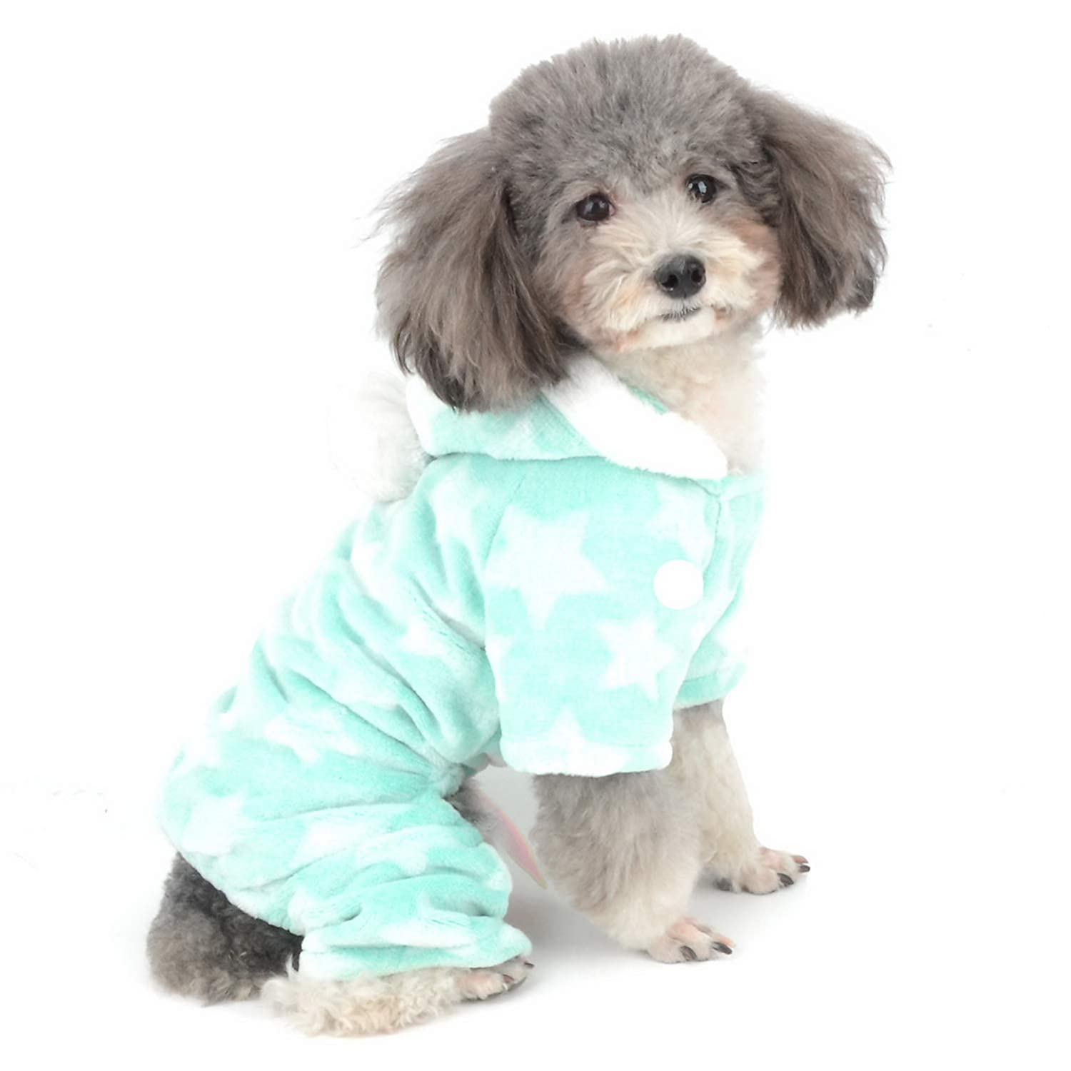 Zunea Small Dog Pajamas Overall Jumpsuit Winter Warm Fleece Puppy Pjs Super Soft Hooded Pyjamas Outfit with Legs Chihuahua Jacket Coat Clothes Christmas Costume for Girls Boys Pet Cat Gray XL