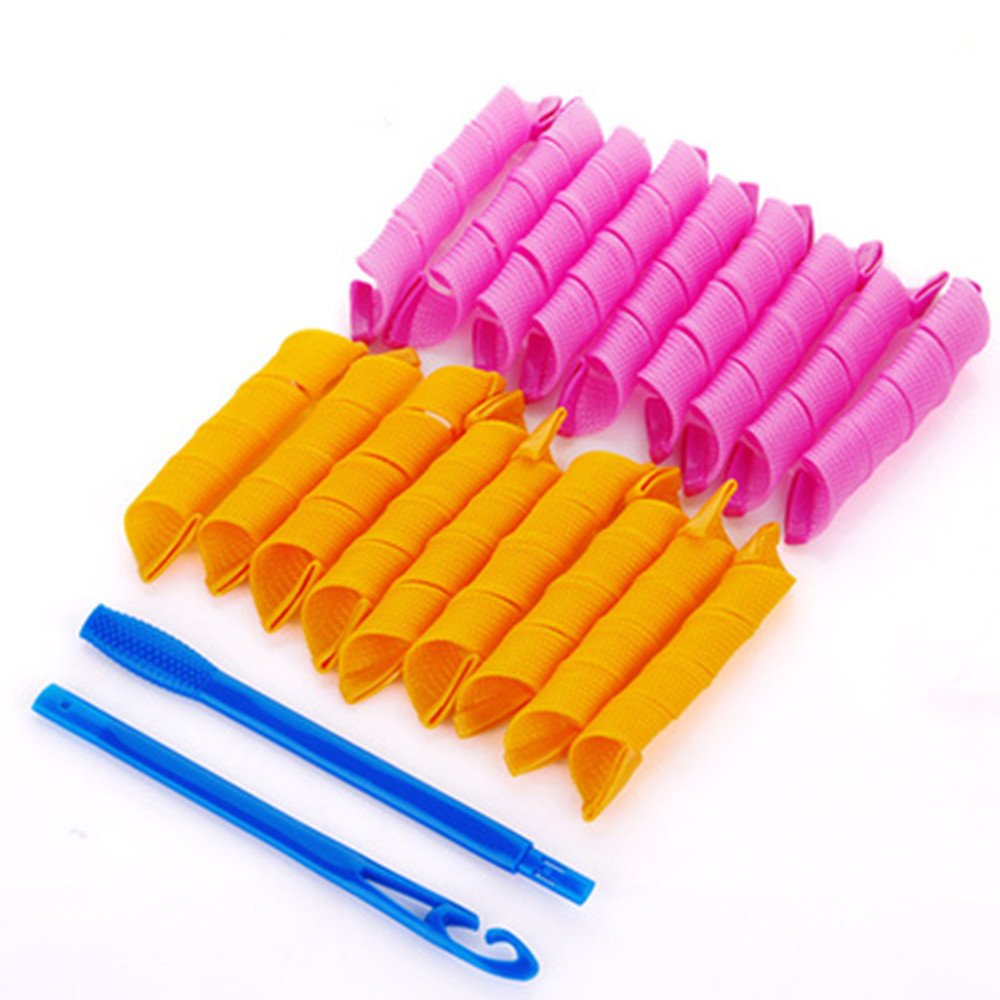 2PC Circle Plastic Hair Rollers Spiral Ringlets Circles Roller Curler Curls Fast Tools ADFASDA