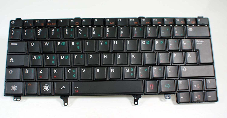 New for Dell Latitude E6220 E6230 E6320 E6330 E6420 E6430 E542 French Canadian Keyboard 2x8d5