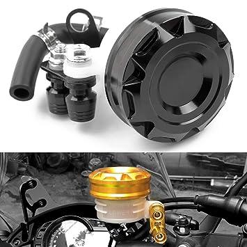 Motorcycle Racing CNC Billet Freno delantero Embrague Tanque Cilindro maestro Depósito de aceite Copa de aceite Universal se adapta a Aprilia Ducati ...