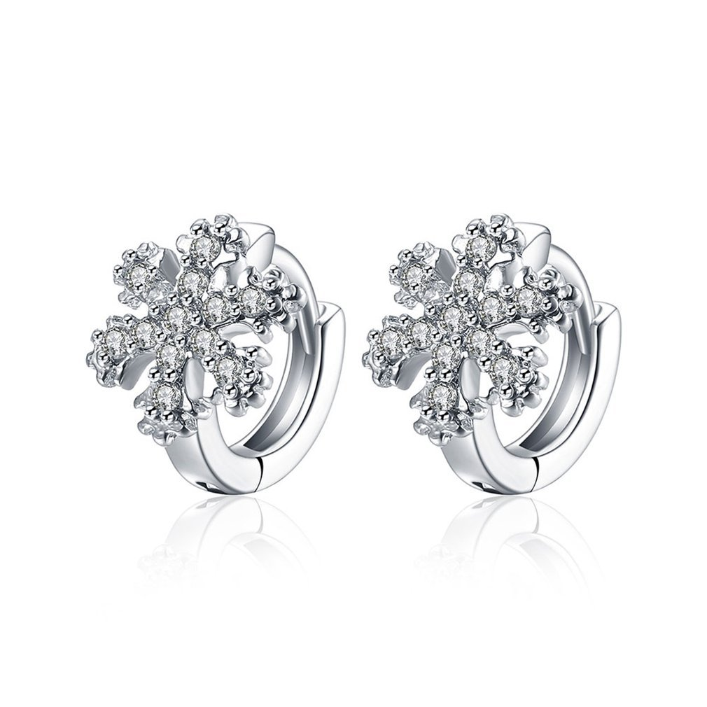 YaptheS Smooth Earrings Wedding Gift With Snowflake Shape Zircon Decor AKE156 Pretty Fashion Accessories Adjustable