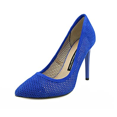 321a84b3fd6 French Connection Women's Monet Pointed Toe Heels, Empire Blue, Size 9.0  US/7