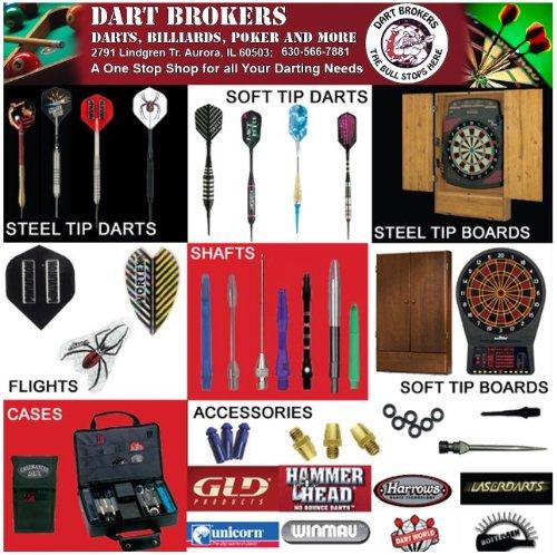 Dart Brokers ASSORTED Soft Tip Darts Accessory Kit flights tips shafts halex case