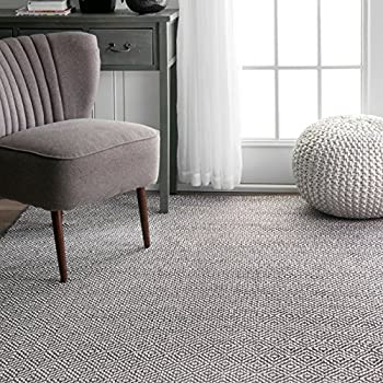 nuLOOM Cottage Collection Hand Made Area Rug, 5-Feet by 8-Feet, Grey