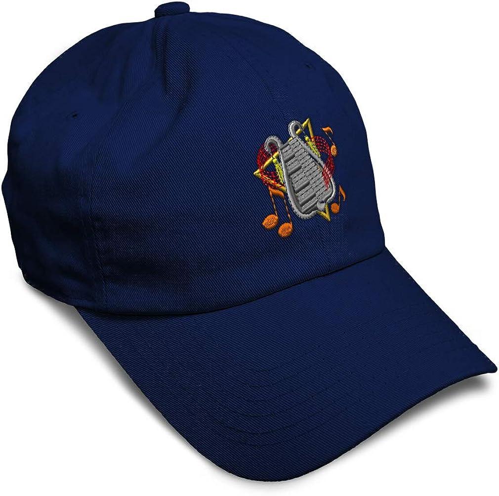 Custom Soft Baseball Cap Bell Lyre Embroidery Dad Hats for Men /& Women