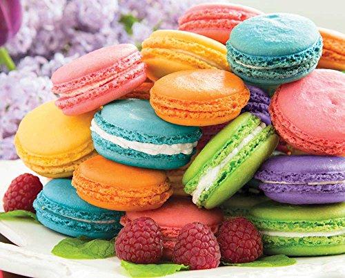 Springbok Puzzles - Macarons! - 1000 Piece Jigsaw Puzzle - Large 30 Inches by 24 Inches Puzzle - Made in USA - Unique Cut Interlocking Pieces ()