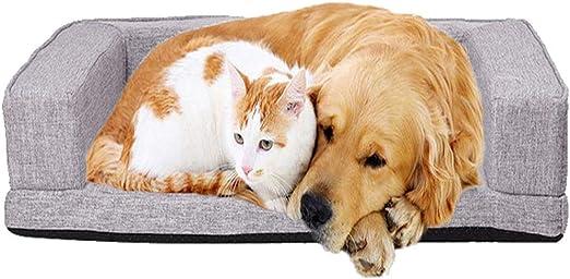 Pet-Dog Cama para Mascotas Cuatro Estaciones sueño Profundo Perro colchón Perrera pequeño y Mediano Cuello de Perro Cama para Perros sofá Cama extraíble para Gatos: Amazon.es: Hogar