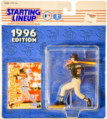 (Ken Caminiti of the San Diego Padres Action Figure - 1996 Edition Starting Lineup Major League Baseball Sports Superstar Collectible)