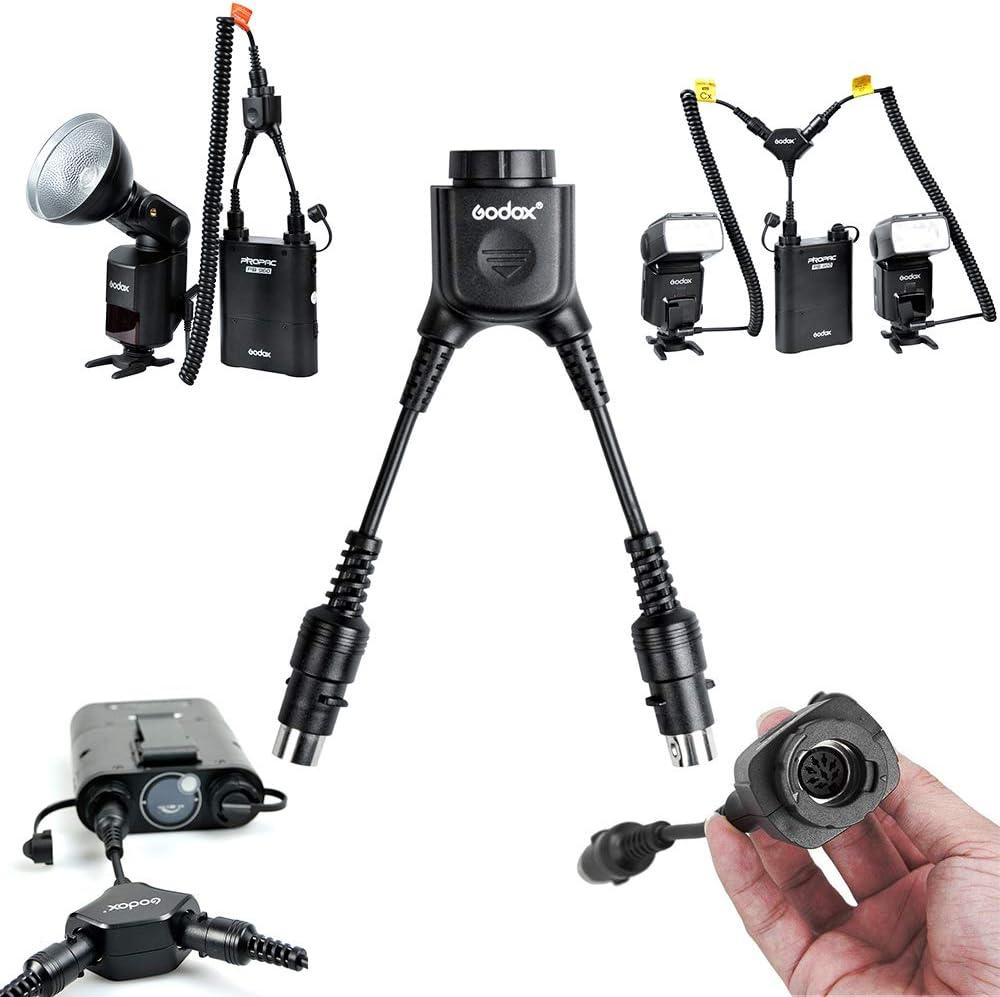 DB-02 Y-Type GODOX DB-02 Cable en Y Conversor 2 a 1 para Power Pack PB960 PB820 AD360 AD180 Flash Speedlite