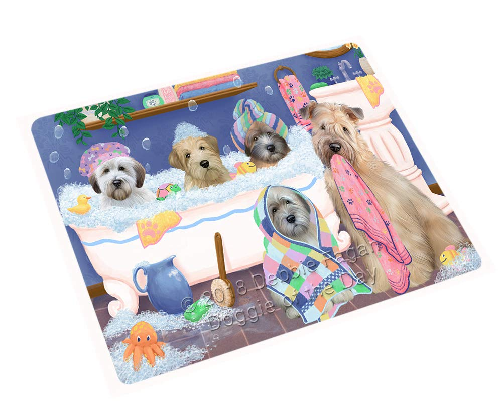 Rub A Dub Dogs in A Tub Wheaten Terriers Dog Blanket BLNKT130935 (50x60 Sherpa)