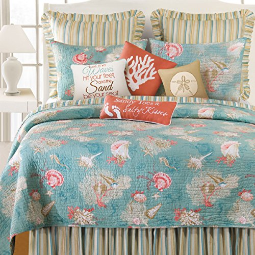 C&F Home 89965.10592 Santa Catalina Quilt, King, Blue