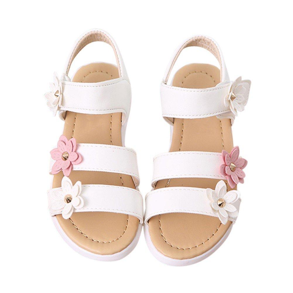 Weixinbuy Little Kid Toddler Baby Girls Flower Soft Summer Sandals Princess Shoes