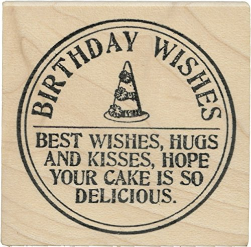 Birthday Wishes Seal rubber stamp - Cats Life Press 1108 E
