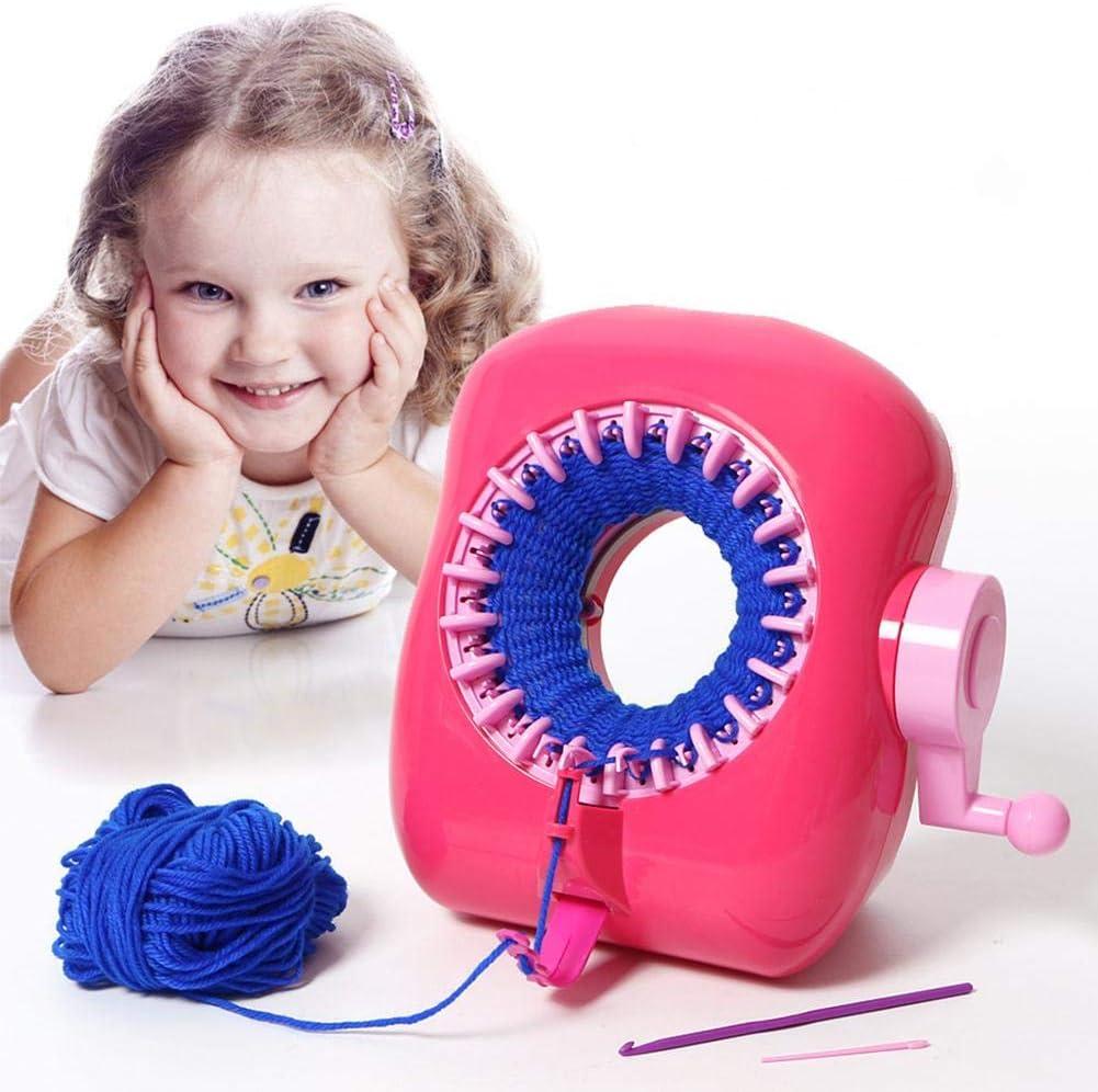 Per Juguetes Máquina de Coser para Niños Infantiles Máquina de Telar DIY Portátil Manual Juguetes Educativos Regalo Creativo para Hcer Bufandas Sombreros