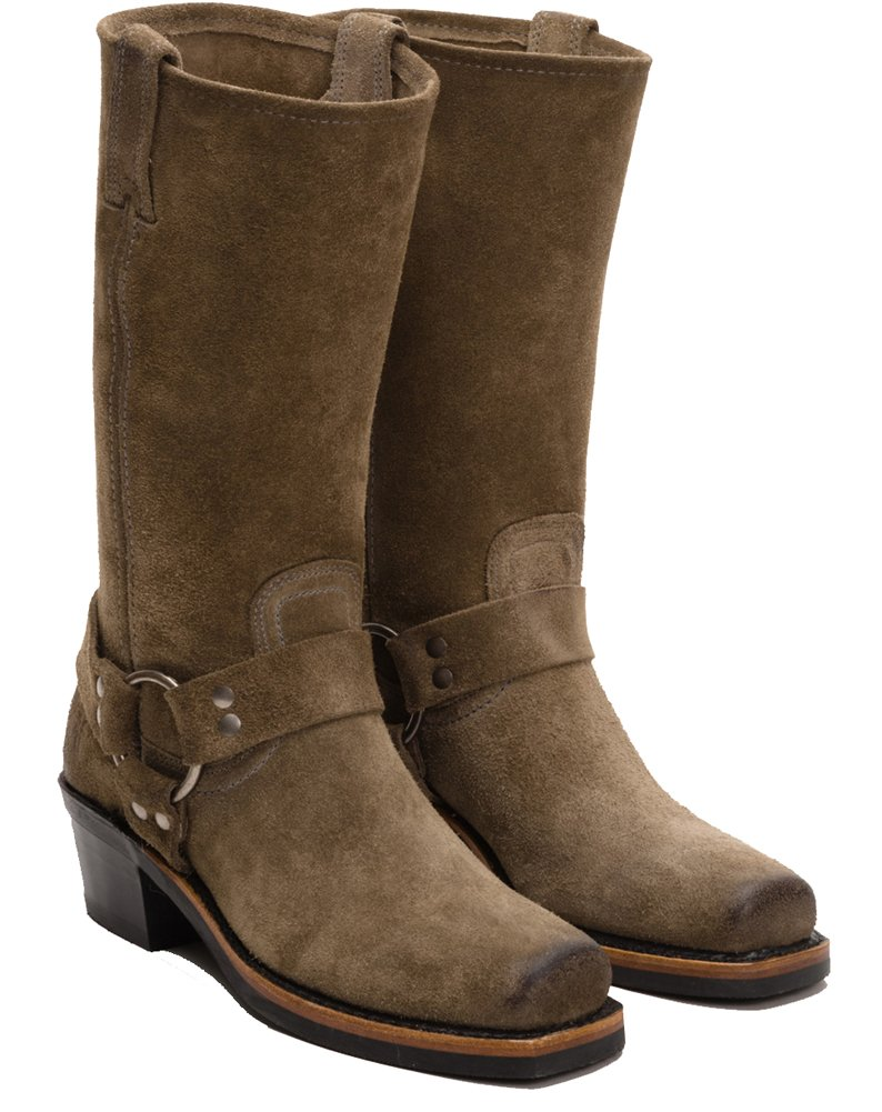 FRYE Women's 12R US|Taupe Harness Boot B00ZW7YJLW 5.5 B(M) US|Taupe 12R Oiled Suede 512832