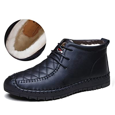 QIANGDA Invierno Zapatos De Hombre Zapatos De Algodón Juventud Masculina Espesar El Forro, 4 Estilos Opcional ( Color : Black2 , Tamaño : EU41 = UK7.5 )