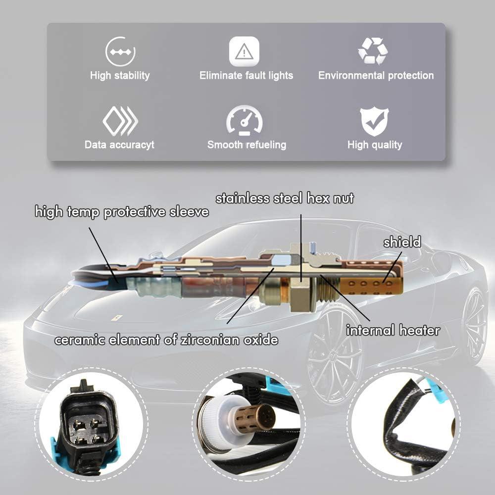 Oxygen Sensor 13474 for Chevy Buick Cadillac GMC Pontiac Downstream Oxygen Sensor Replacment OE # Bosch 13474 Denso 234-4018