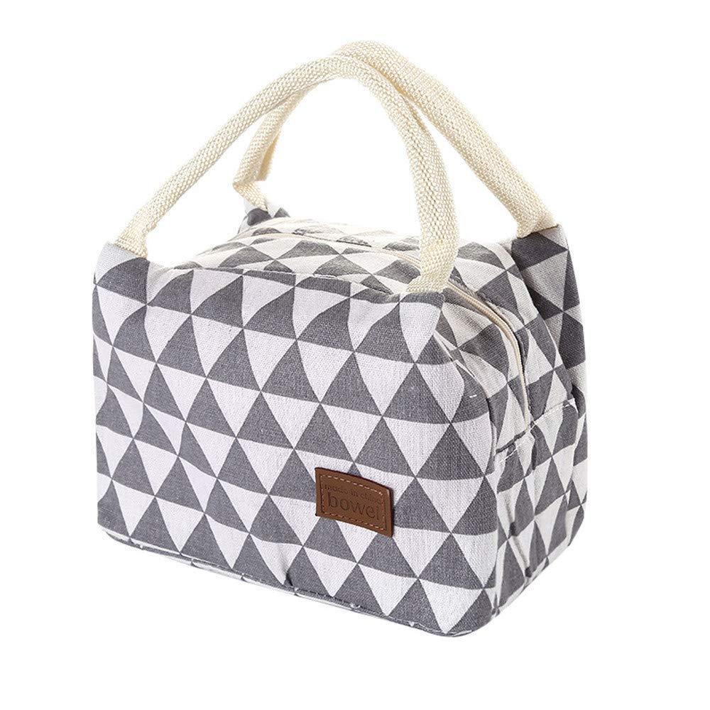 21x14x15cm Ideale per Picnic//Pesca//Scuola//Lavoro Portatile Borsa Frigo Pranzo Lunch Bag Borsa Termica Pranzo al Sacco