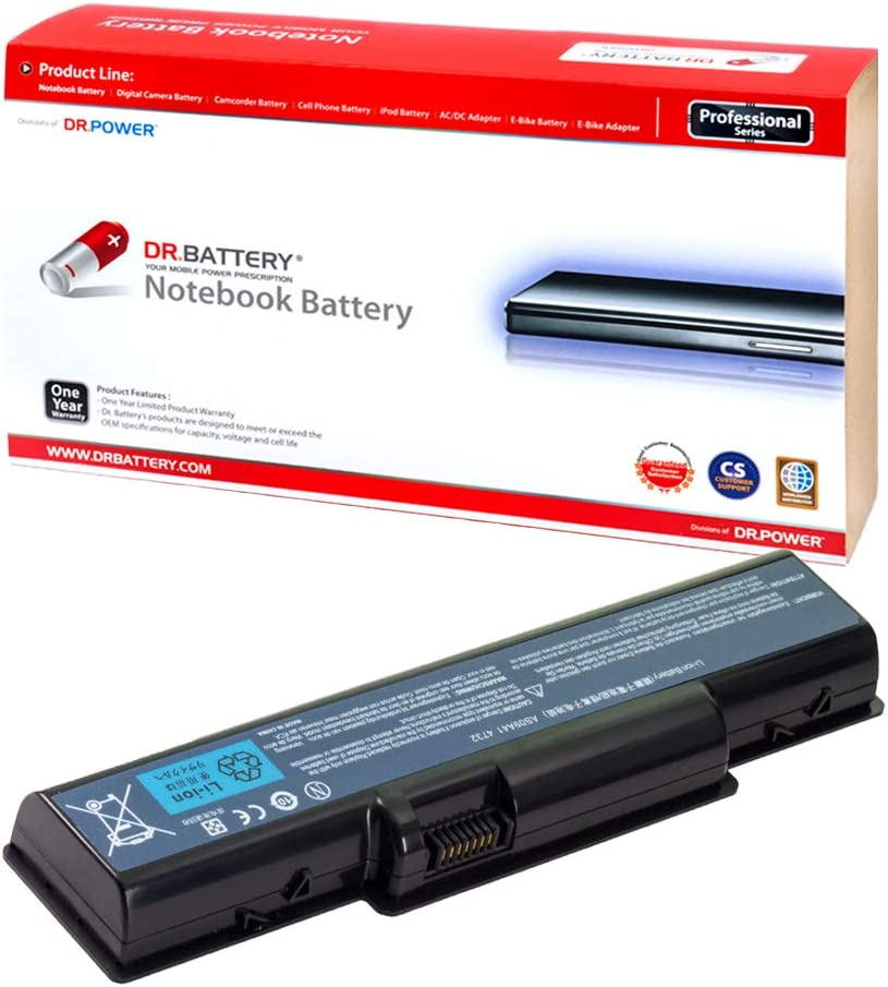 DR. BATTERY AS09A31 Battery Compatible with Acer Aspire 4732 5516 5517 5532 5732Z Emachine D525 D725 AS09A36 AS09A41 AS09A51 AS09A56 AS09A61 AS09A70 AS09A71 AS09A73 AS09A75 AS09A90[11.1V/4400mAh/49Wh]