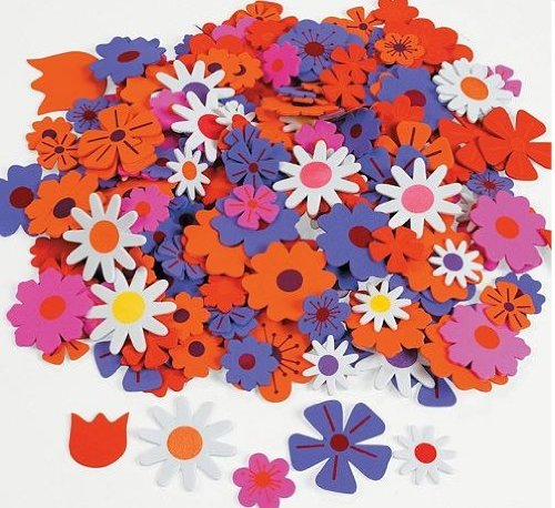 Foam Self-Adhesive Flower Shapes (500 -