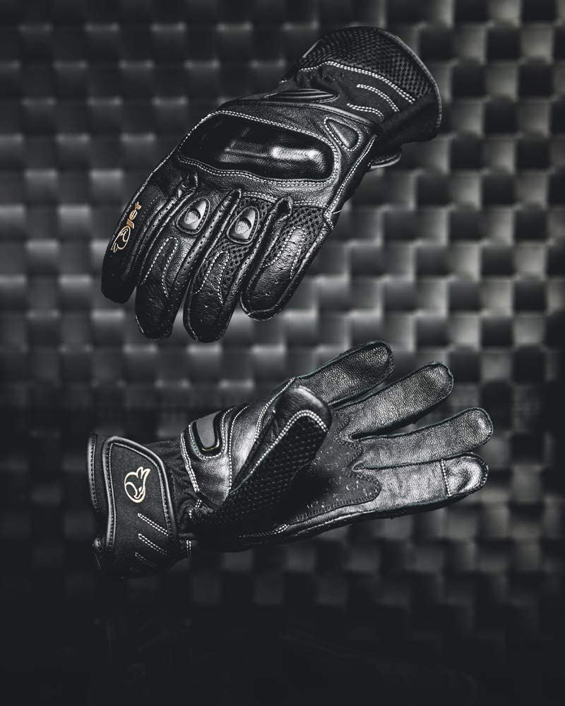 S, Noir Jet Gants Moto /ét/é Cuir Textil Protection des Articulations PRO MESH