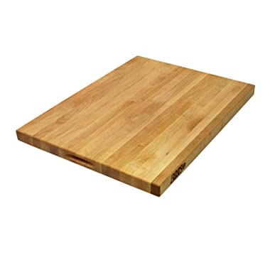 John Boos R02 Maple Wood Edge Grain Reversible Cutting Board, 24 Inches x 18 Inches x 1.5 Inches