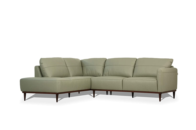 Amazon.com: ACME Furniture 54995 Tampa Sectional Sofa, Airy Green ...