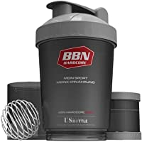 Best Body Nutrition Eiweiß Shaker US Bottle schwarz/silber 600 ml