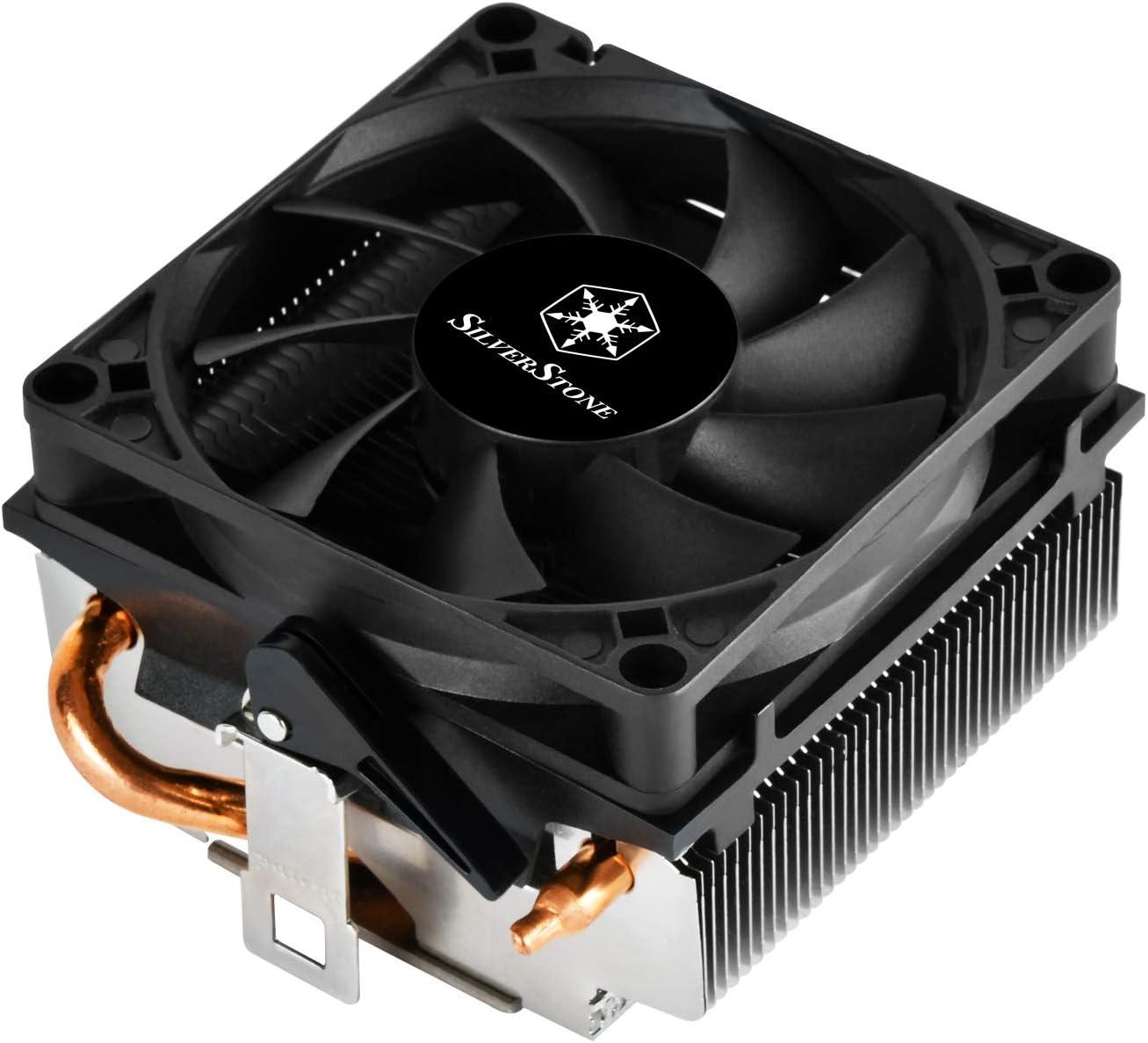 SilverStone SST-KR01 - Disipador Kryton para CPU, perfil bajo, PWM de 80mm con rodamientos duales delgados, 54mm de alto, Zócalo AMD AM2/AM3/AM4/FM1/FM2