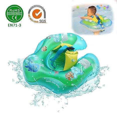 Anillo de natación para bebés Asiento flotador Asiento de natación ...
