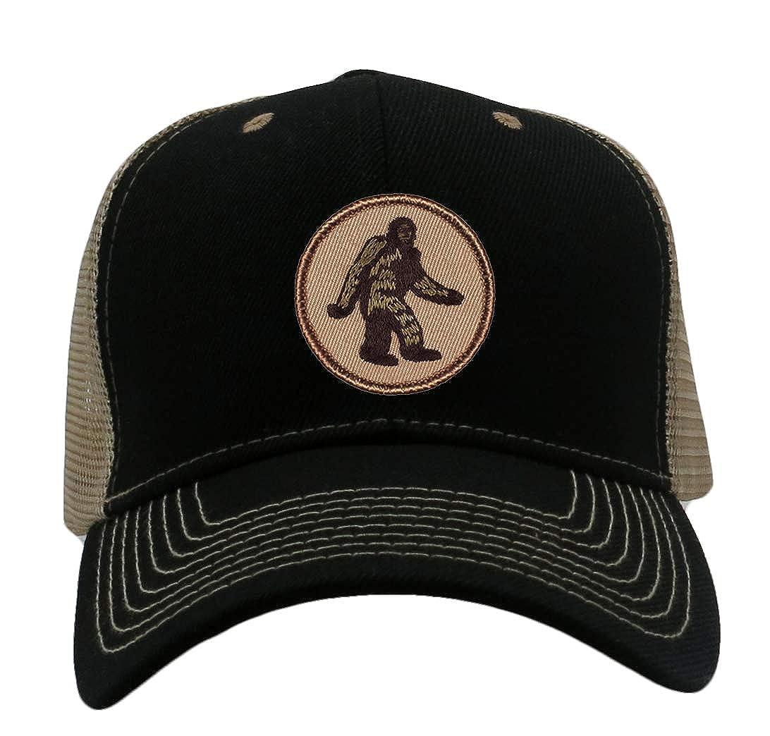 03228cd8c0c20 Bigfoot Sasquatch Hat! Adjustable-Back Ball Cap with Embroidered Bigfoot  (Black Ballcap) at Amazon Men s Clothing store