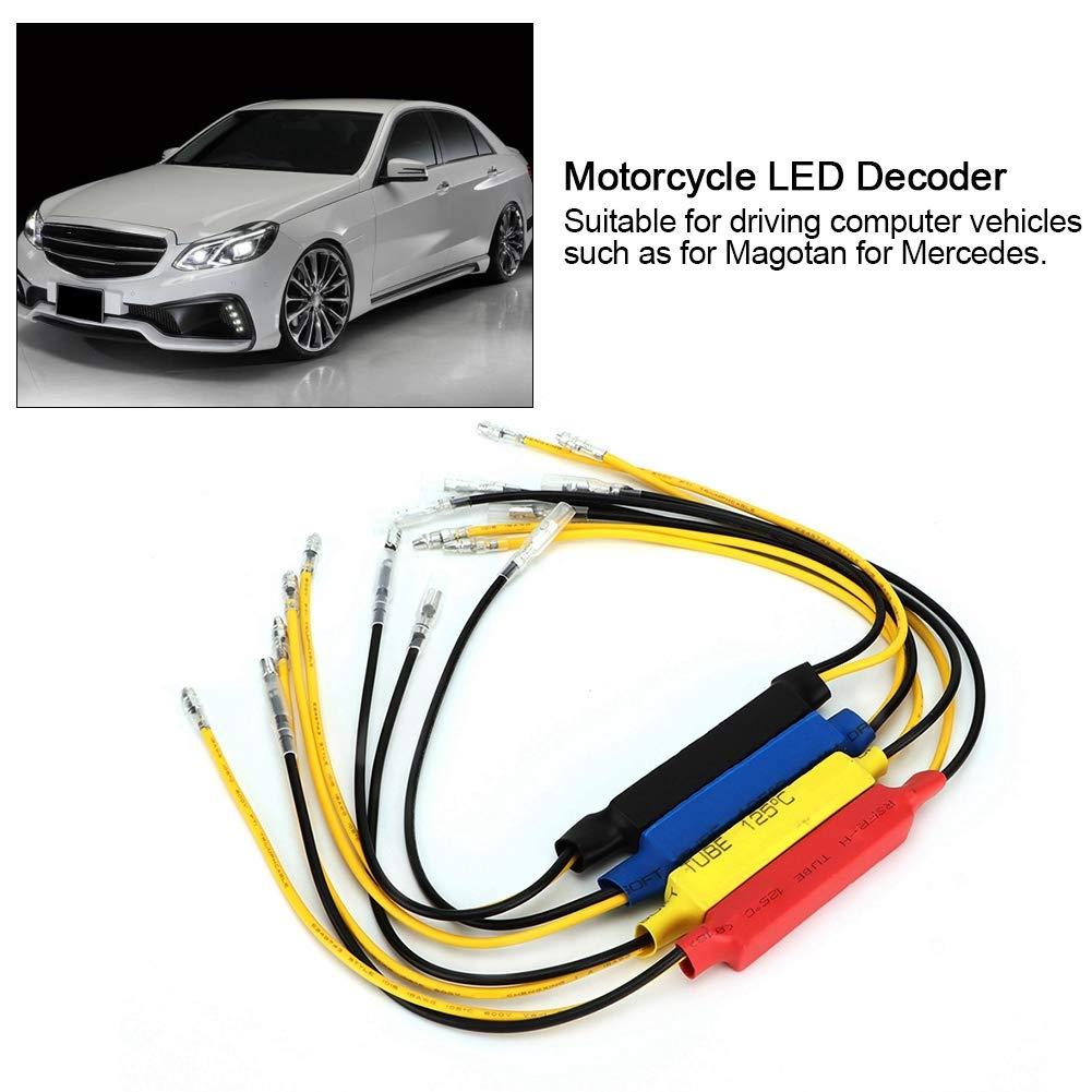 4PCS 12V-24V 20W Moto LED Clignotants Indicateur De Charge Charge R/ésistance LED D/écodeur HQ-014 Suuonee Moto LED D/écodeur