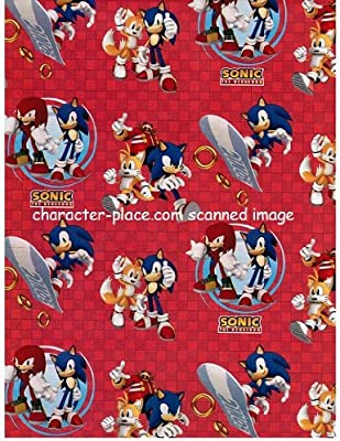 Sonic Hedgehog 4 Meter Gift Wrap Roll Amazon Co Uk Health Personal Care