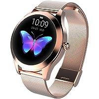 CUEYU Smart Watch KW10 Ronde touchscreen IP68 waterdichte smartwatch voor vrouwen, fitnesstracker met hartslag- en…