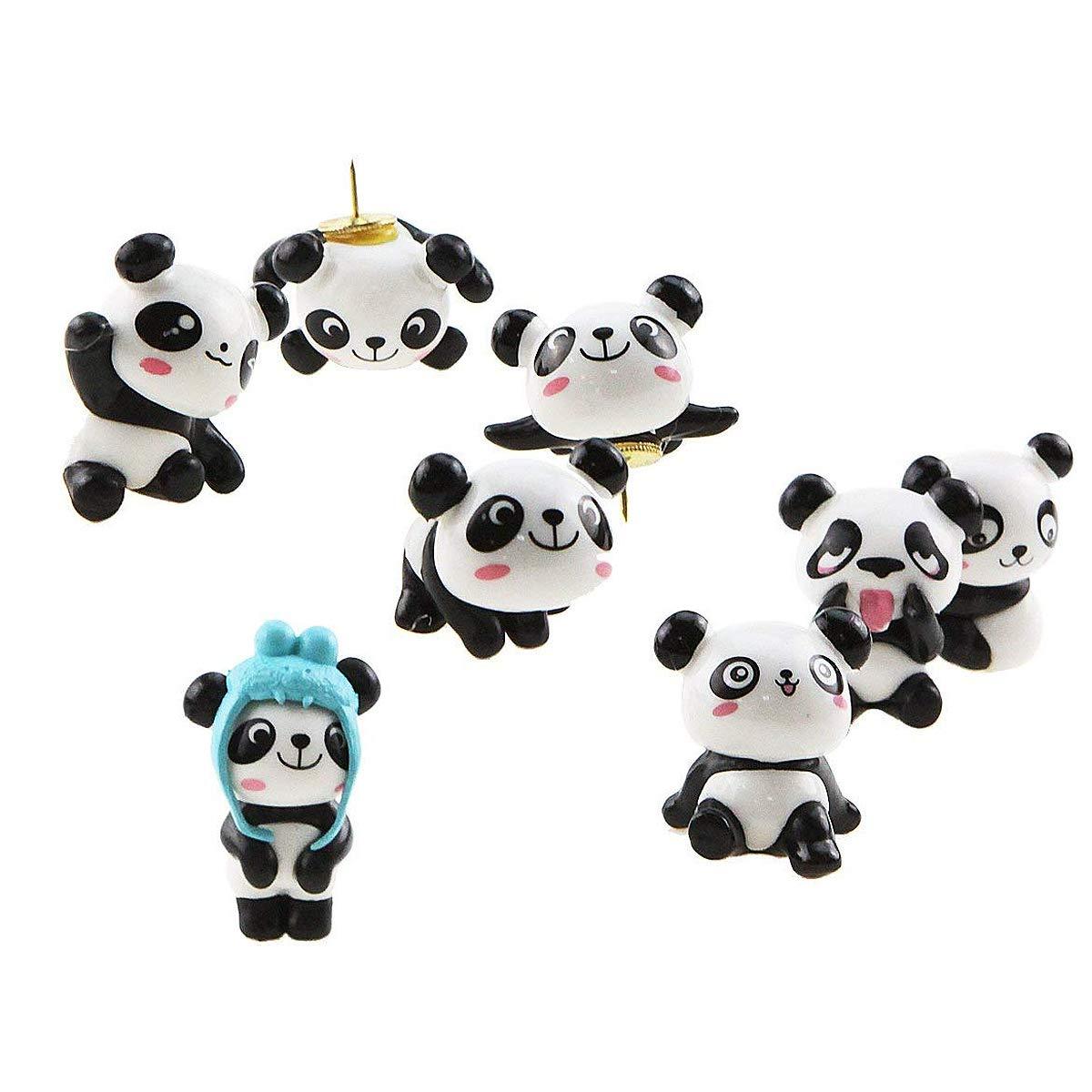 Cartoon Pushpin combinazione 8 pz simpatico panda puntine da disegno per funzione da parete, lavagna, bacheca, foto da parete Unigift