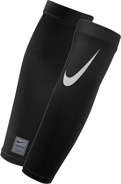 NIKE Pro Adult Dri-FIT 3.0 Arm Sleeves (Black/White, Small/Medium) : Clothing