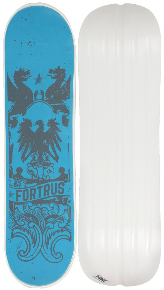 Fortrus Kingdom Snow Skate Snowboard Deck, White, 35''