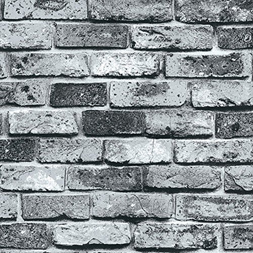 Moyishi Retro Vintage Faux Brick Wallpaper For Home Bar W...