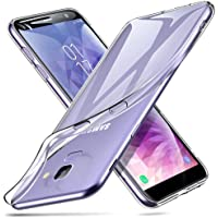 ESR Coque pour Samsung J6, Coque Galaxy J6 Silicone, Samsung Galaxy J6 Coque Transparente Silicone Gel TPU Souple, Housse Etui de Protection pour Samsung Galaxy J6 (2018) (Série Jelly, Transparent)