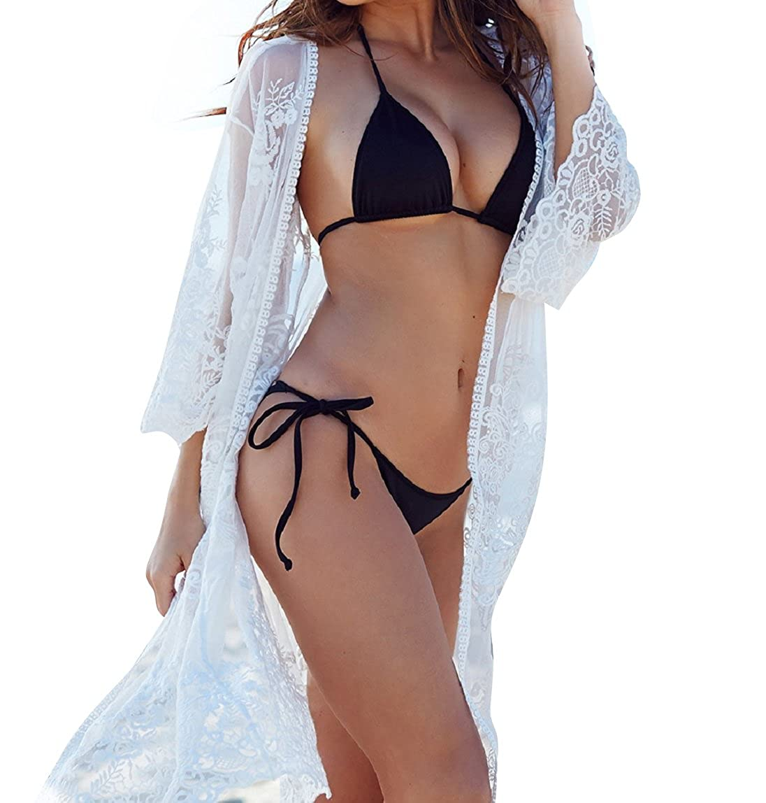 Blouses & Shirts Lower Price with Summer Style Women Sexy V-neck Transparent See-through Loose Beachwear Bikini Smock Sunscreen Blouse Tops Beautiful And Charming