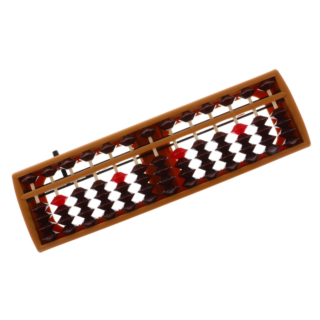 #1 15 Barres MagiDeal Boulier Chinois Abaque Plastique Perles Abacus Soroban Outil de Calcul Jouet Maths Scolaire
