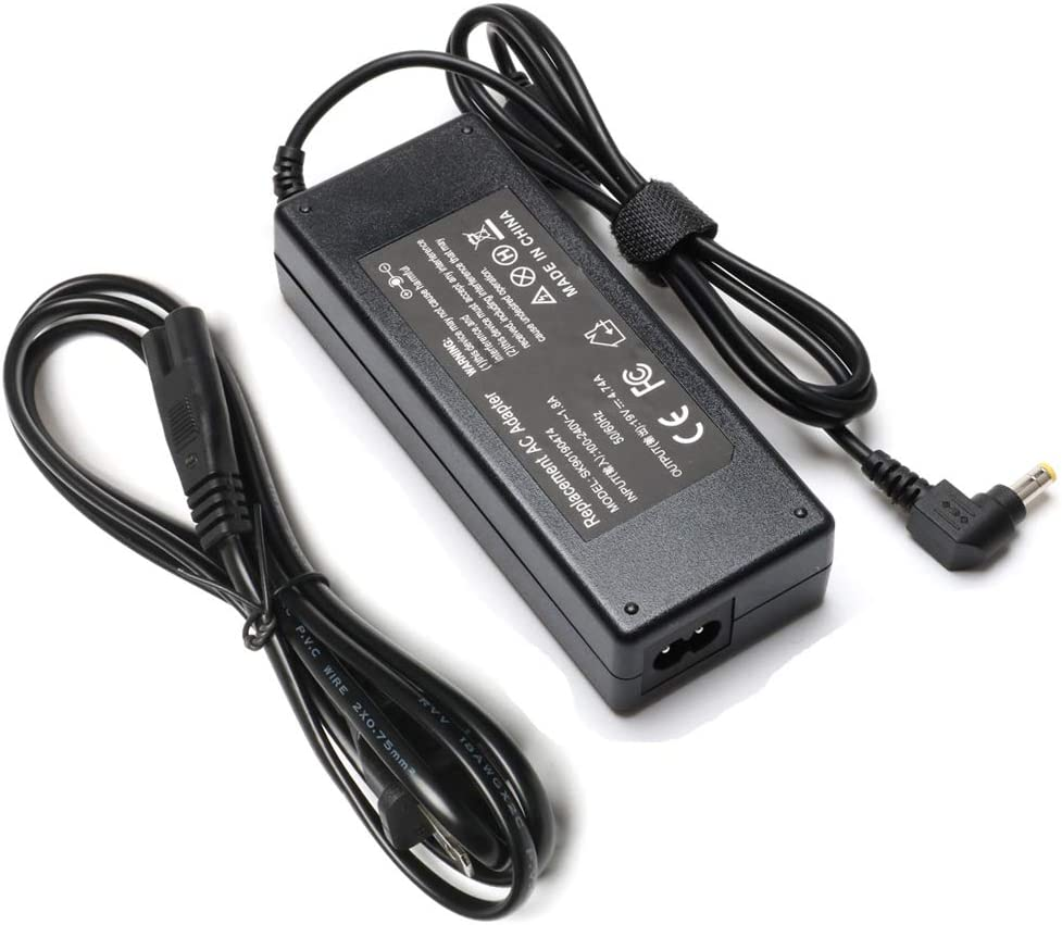 90W Laptop Charger Replacement for Toshiba Satellite p845t l755 p75 p775 l505 c655d l305 l675 a505 m645 p755 l455 l755d c675 l855 s855 c75d s75 l745 p745 a205 a305 c875 AC Adapter Power Supply Cord