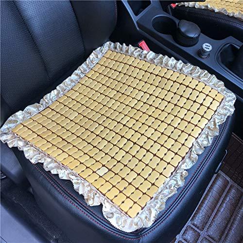 Summer Car Cushion Breathable Bamboo Slices Cushion Cushions Mat Wooden Bamboo Block Seat Pad Bamboo Chip Square Pad
