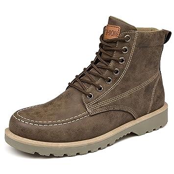 GSHE Shoes Botas Altas para Hombre, Más Algodón, Más Gruesas, Más Terciopelo,